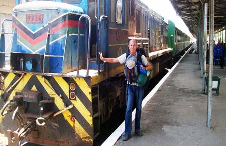 En gare pour le tour d'Afrique